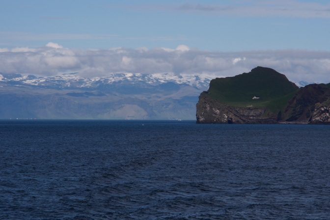 Looking back to Iceland from Vesmannaeyar with Eyafjallajökull in the background