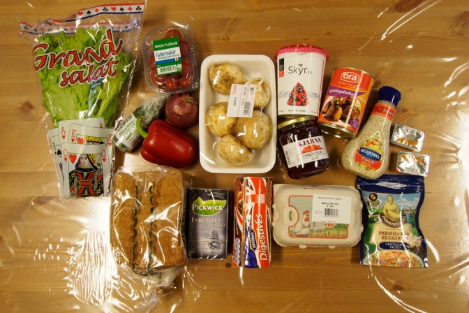 What $46.65 will buy in groceries