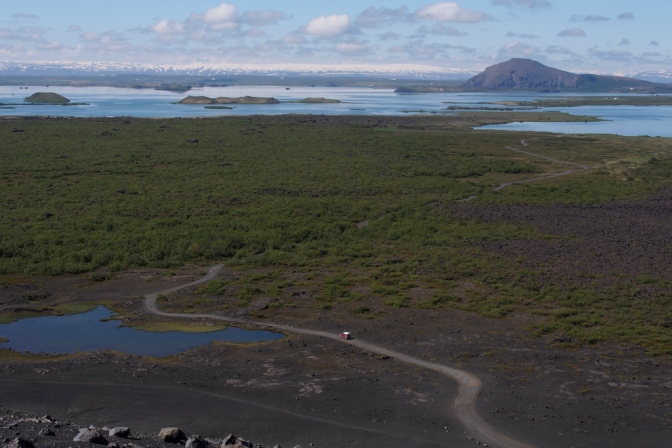 Myvatn seen from Hverfjall Crater