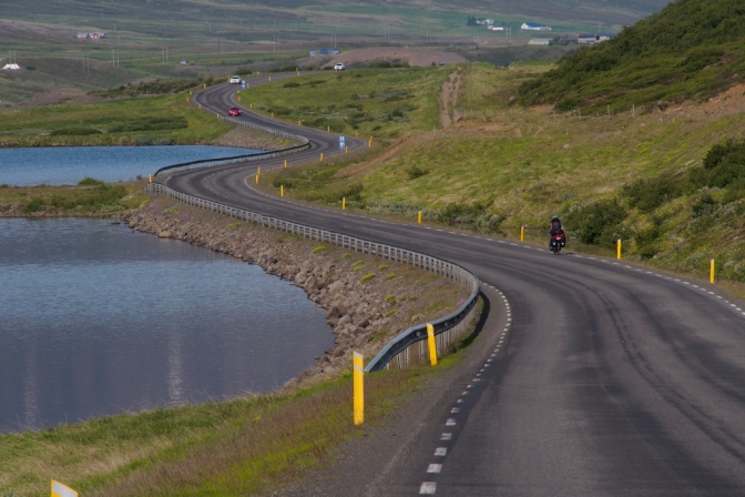 The lovely road from Godafoss towards Akureyri