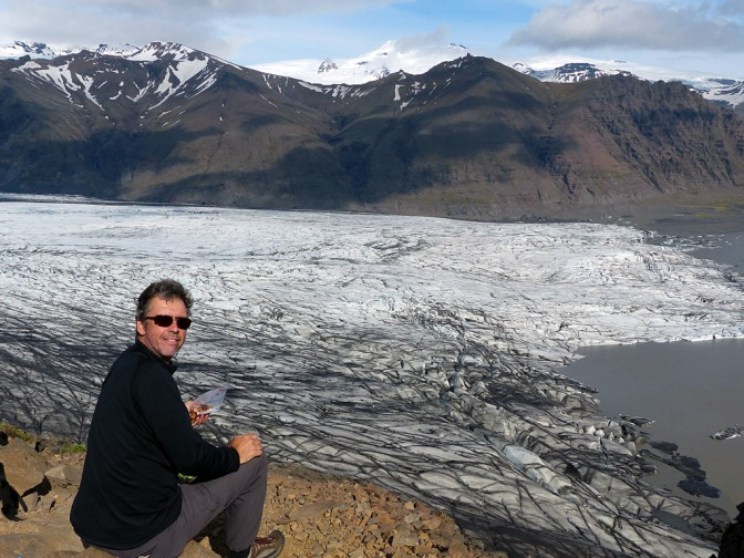 Taking a break and enjoying the view at Skaftafell
