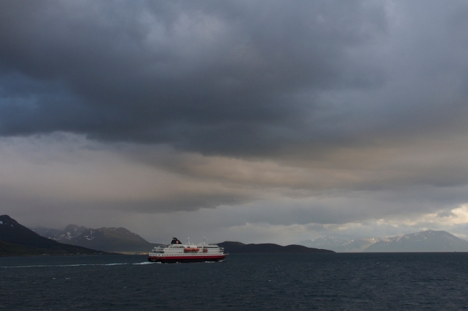 The southbound Hurtigruten ferry.