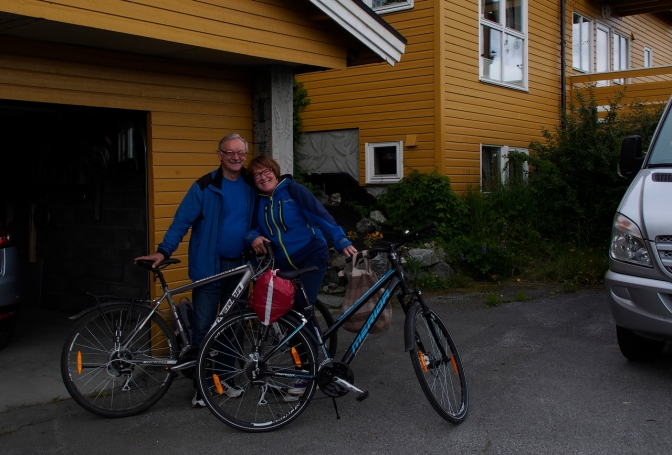 Sylvi and Hallvard Olsen, our hosts in Lyngseidet.