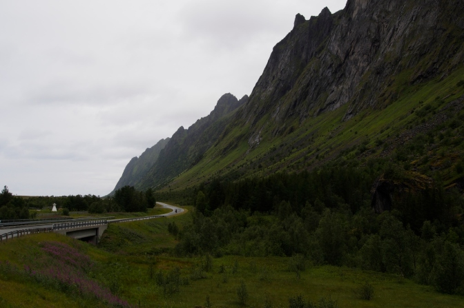 Route 862 on Senja Island at Ersfjord.