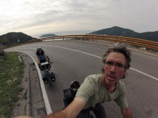 Climbing out of Budva.