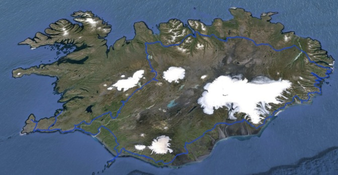Our route around Iceland.