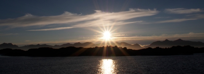 Another sunset that lasted for hours in the Lofoten.