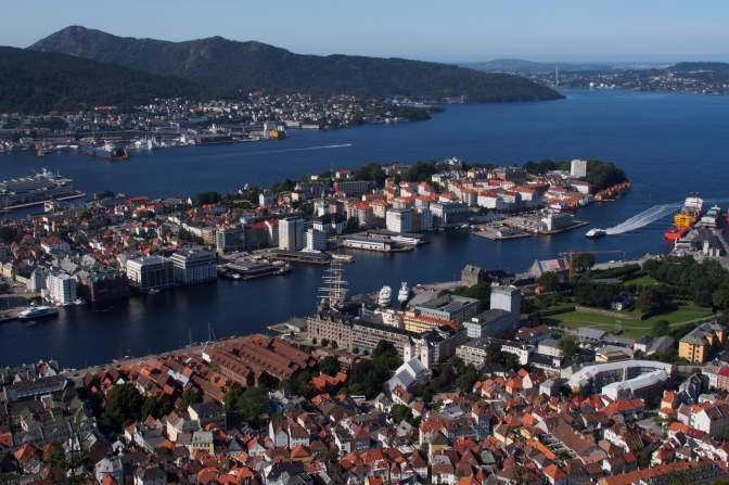 Bergen seen from Fløyen.