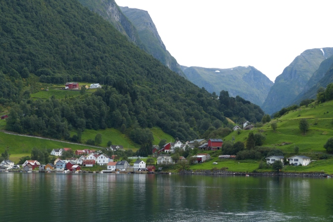View in Sognefjord from the ferry.