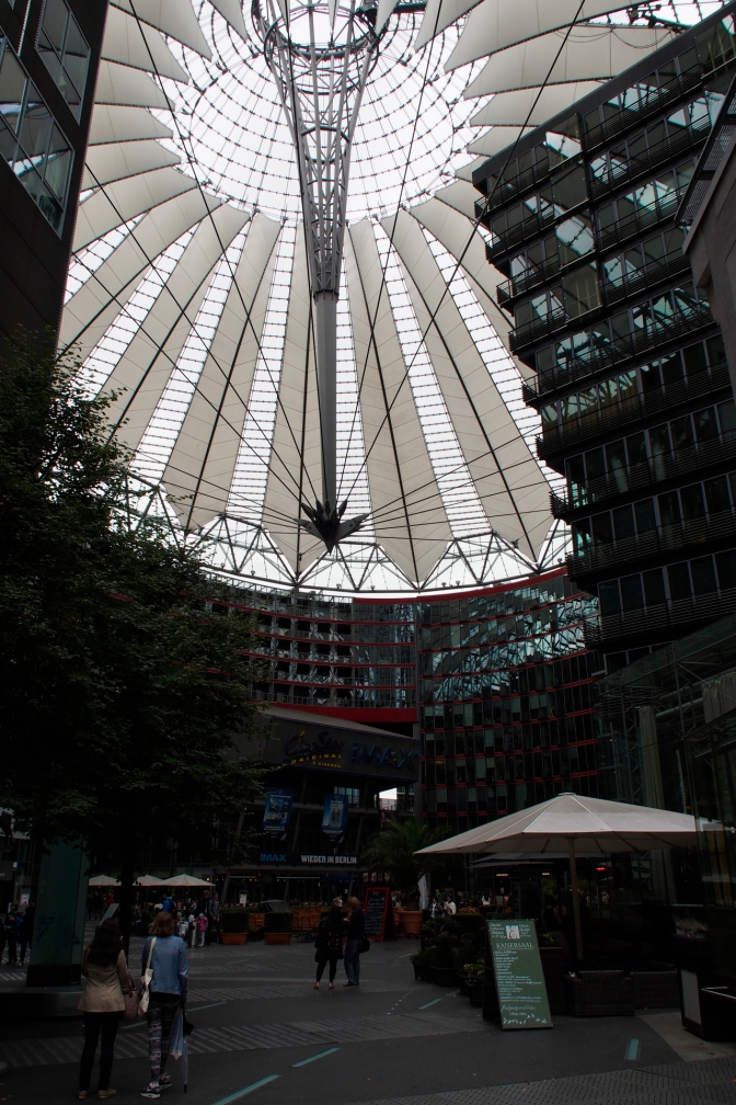The Sony building at Potsdammer Platz.