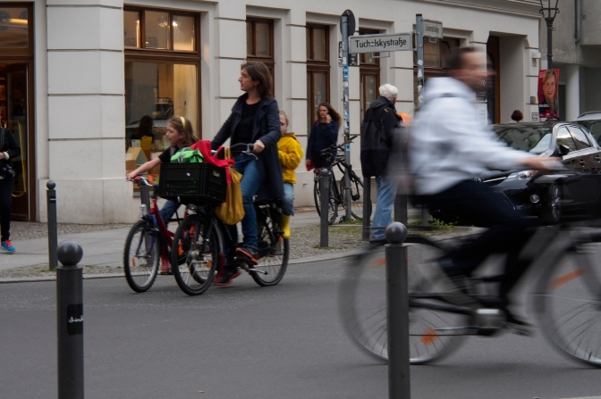 Cyclists in Kreuzberg, Berlin.