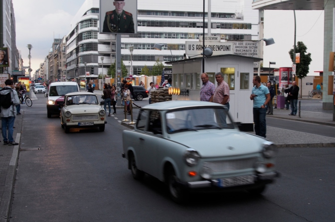 Trabi Safari: a tour of Berlin in a Trabant, a car made in the former East Germany.