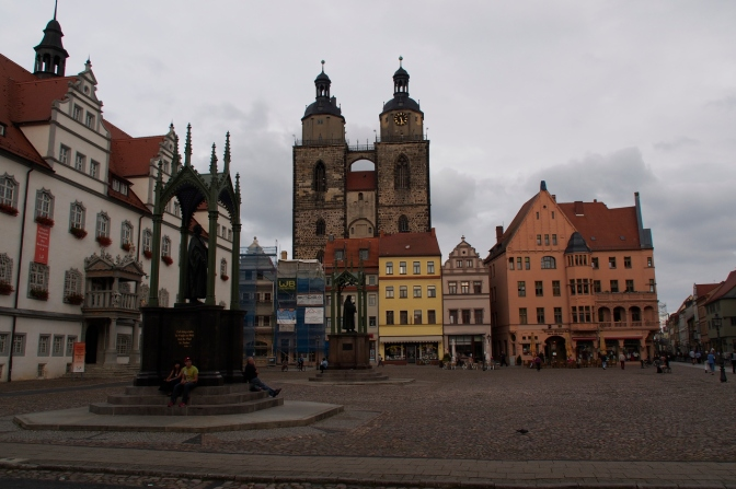 Wittenberg where Luther nailed his 95 theses to the church door and so beginning the Protestant Reformation in 1517.