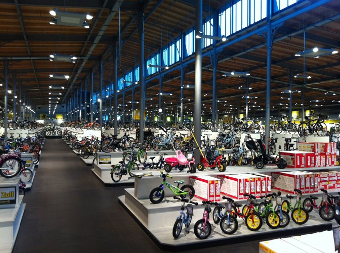 Huge bike store where we bought a few things we needed.