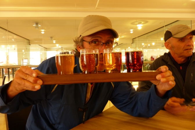 A taster at the Carlsberg Brewery in Copenhagen.