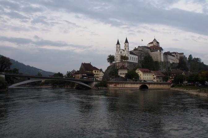 Aarau along the Aar River.