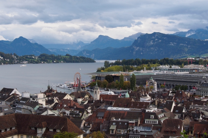 View of Luzern and the lake.
