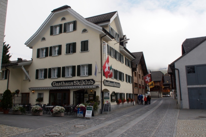 Our accommodation in Andermatt: Gasthaus SkiKlub.