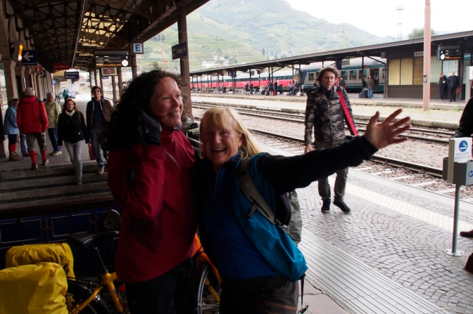 A joyful reunion: Jan and Ivona at the Bolzano train station.