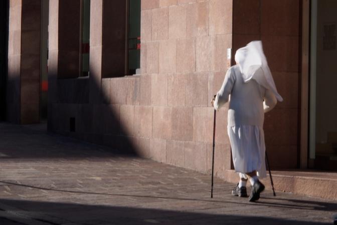 Nordic nun in Bolzano.