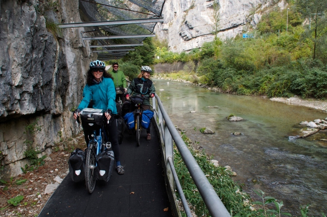 The bike path was a bit narrow at times along the Brenta River.