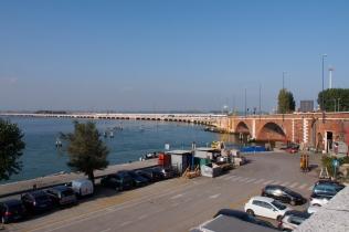 Ponte della Libertàˆ connects Venice to the mainland.