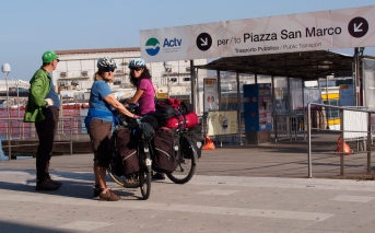 Jan, Ivona and Gary at the Ferry terminal to get into Venice.