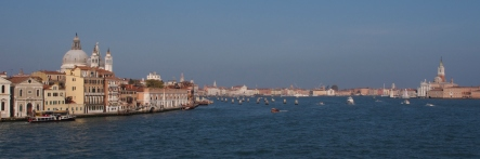 Venice from the ferry to Punta Sabbioni.