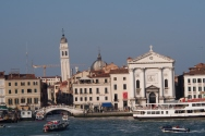 Venice from the ferry to Punta Sabbioni. Yes, it's leaning.