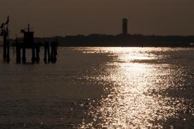 Venice at sunset.