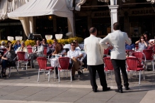 An expensive place to have a drink in Piazza San Marco.