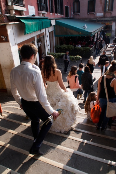 Venice wedding at Ponte Rialto.