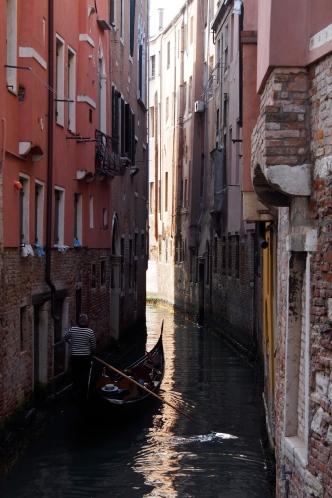 Narrow canal.