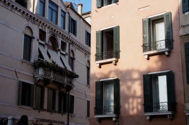 Architectural shadows in Venice.