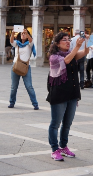 Photographers in Piazza San Marco.