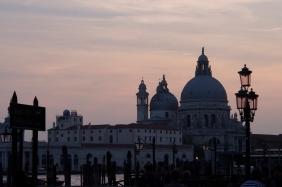 Santa Maria della Salute at sunset.