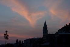 Sunset over Venice.