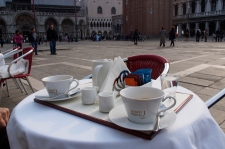 Two coffees in Piazza San Marco: 18 euros. Watching the people: priceless.