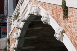 Bridge detail at campo Santo Giovanni e Peolo.