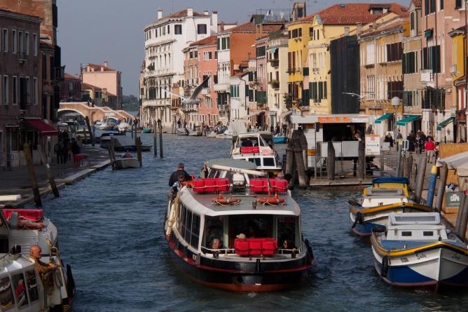 Venice hustle and bustle.