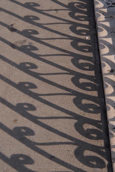 Bridge shadows in Venice.