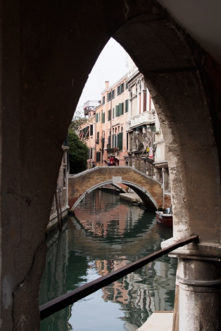 Venice bridge and archway.