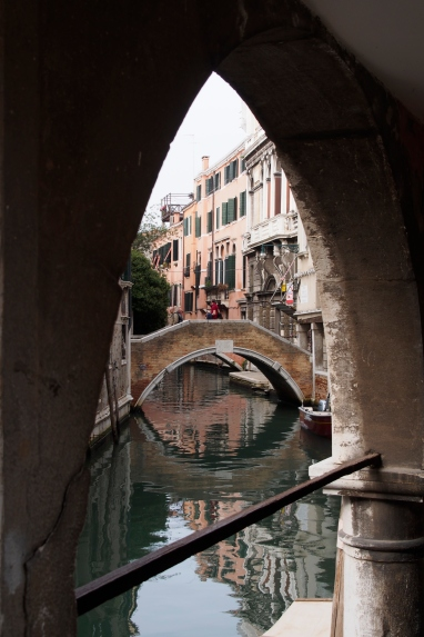 Venice bridge and archway.