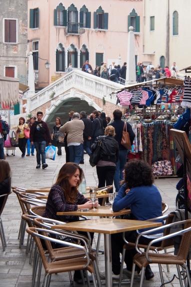 Street life at campo Santo Giovanni e Peolo.