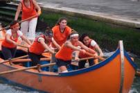 Rowing practice in Venice.