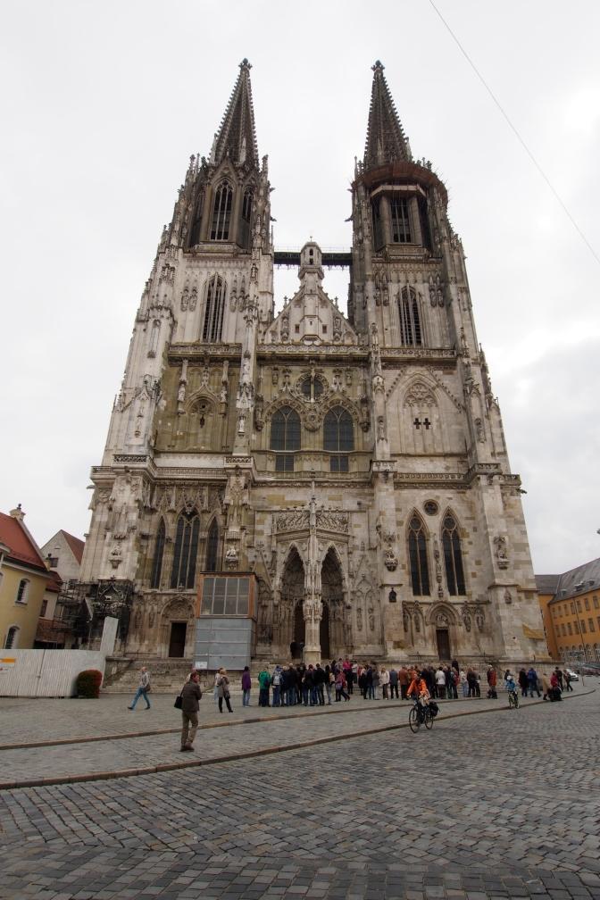 Regensburg Cathedral. http://en.wikipedia.org/wiki/Regensburg_Cathedral