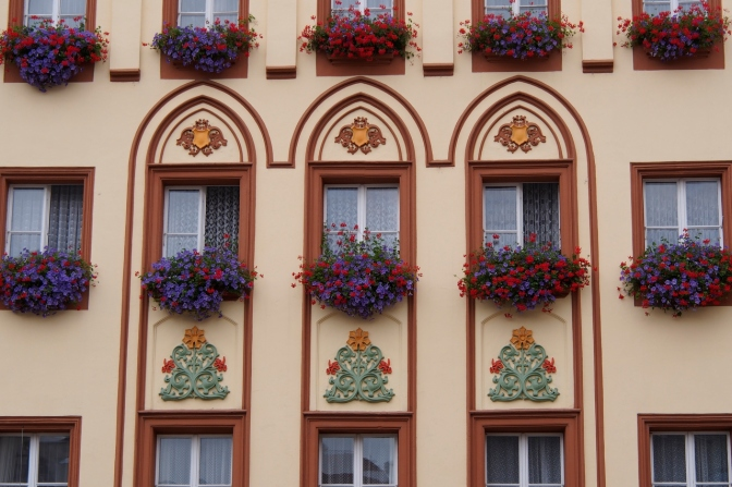 Detail of a house in Regensburg.