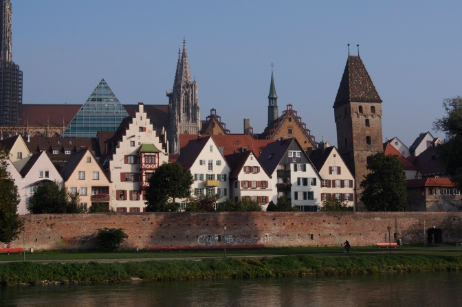 Ulm along the Danube.