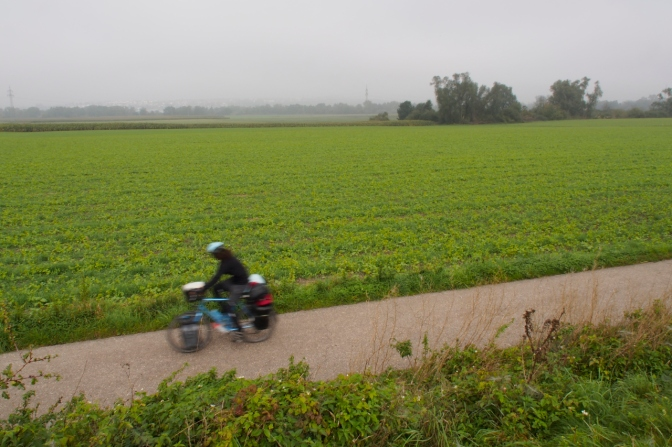 Jan zooming through the German farm land west of Ulm along the Danube.