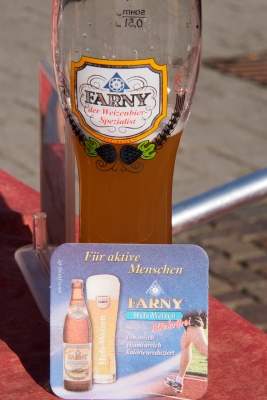 Farny: for active people. A lovely Heffe Weizen.